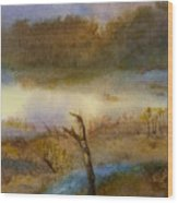 Autumn Wetlands Wood Print