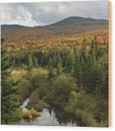 Autumn - White Mountains New Hampshire Wood Print