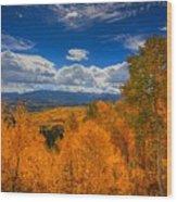 Autumn Wildfire At Ohio Pass Wood Print