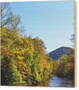 Autumn Williams River Wood Print