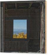 Autumn Windows Wood Print