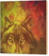 Autumn Wolf Wood Print