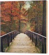 Autumn Woodland Crossing Wood Print