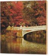 Autumnal Bow Bridge  Wood Print