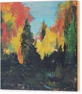Autumnal Colors Wood Print