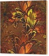 Autumnal Glow Wood Print