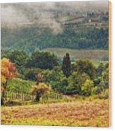 Autumnal Hills Wood Print