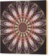 Autumnal Mandala Wood Print