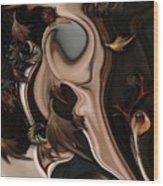 Autumnal Material Wood Print