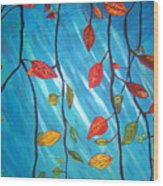 Autumnleaves Wood Print