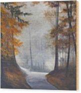 Autum's Mist Wood Print