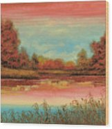 Autunno Sul Lago Wood Print
