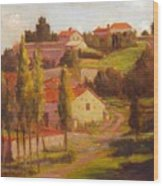 Availles Touarsailles France  Loire Valley Wood Print