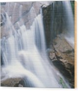 Avalanche Falls Flume Gorge Wood Print