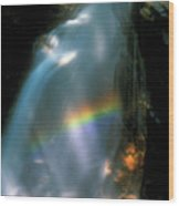 Avalanche Falls Rainbow Flume Gorge Wood Print