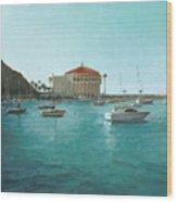Avalon Harbor Afternoon Wood Print