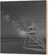 Avalon Light Guard Bw Wood Print