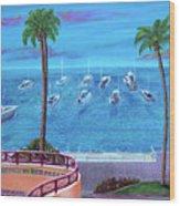 Avalon On Catalina Wood Print