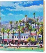 Avalon Waterfront, Catalina Wood Print