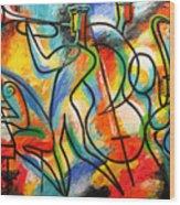 Avant-garde Jazz Wood Print