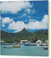 Avarua Harbor Wood Print
