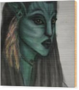 Avatar Portrait Wood Print
