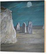 Avebury Stone Circle Wood Print by Tracey Mitchell