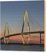 Avenell Bridge Sunset Wood Print