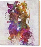 Avengers 02 In Watercolor Wood Print