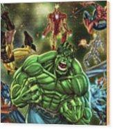 Avengers Wood Print
