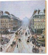 Avenue De L'opera - Effect Of Snow Wood Print