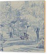 Avenue In A Park Arles, May 1888 Vincent Van Gogh 1853 - 1890 Wood Print
