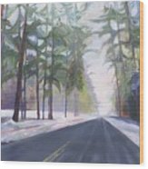 Avenue Of The Pines-winter Wood Print