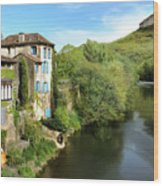 Aveyron River In Saint-antonin-noble-val Wood Print