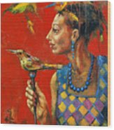 Aviary Queen Wood Print