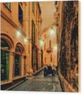 Avignon Alley At Sunset Wood Print
