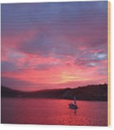 Avila Beach Sunset Wood Print