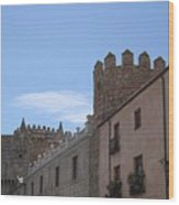 Avila Castle In The Sky Wood Print
