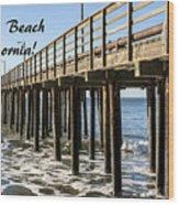 Avila Pier Avila Beach California Wood Print
