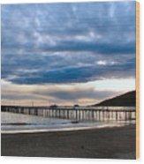 Avila Pier Wood Print by Dana Patterson