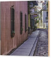 Aviles Street The Oldest Street In The Usa Wood Print