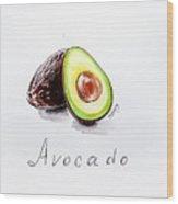 Avocado Lobule Wood Print