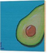 Avocado On The Side Wood Print