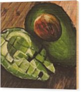 Avocado Wood Print