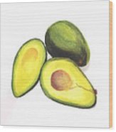 Avocados Wood Print
