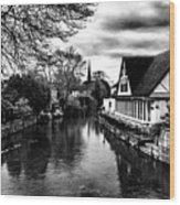 Avon Boathouse Wood Print