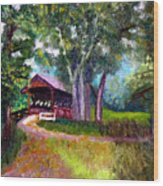 Avon Covered Bridge Wood Print