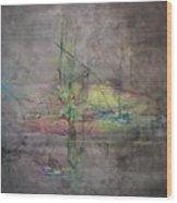 AWAKENING ABSTRACT 1 Black Background Bright Detail Wood Print