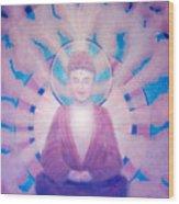 Awakening Buddha Wood Print