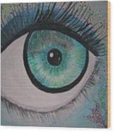 Awakening Eye Wood Print